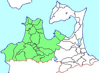 青森の津軽地方と南部地方